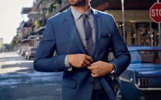 З чим носити синій чоловічий піджак? Фото